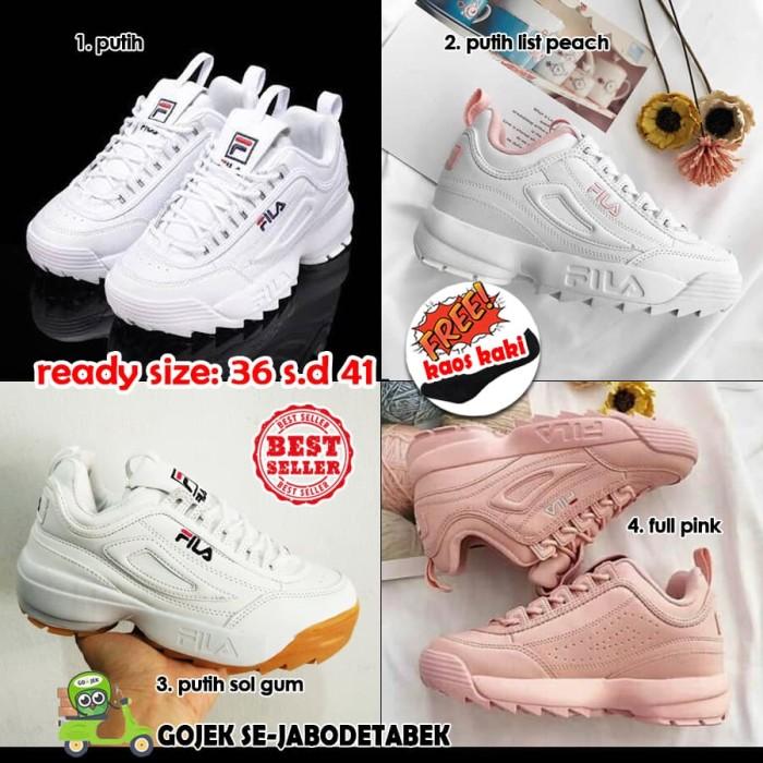 Jual fila disruptor 2 women kw super. sepatu fila wanita. sneakers ... 967d1d01b4