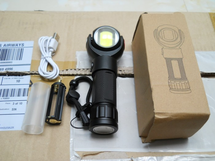 Foto Produk SENTER PUTAR / ROTATE FLASHLIGHT 360° w/ MAGNET & USB Port dari DO OFFICIAL STORE