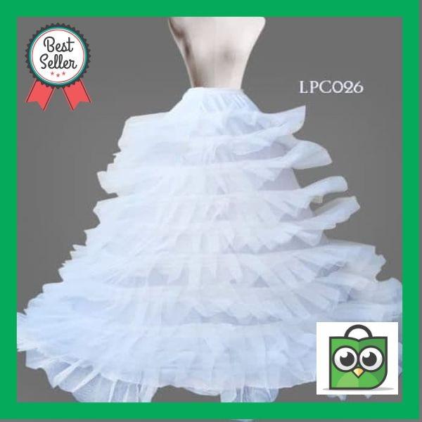 Jual Premium Rok Pengembang Gaun Pesta Bridal Modern 9ring 9layer