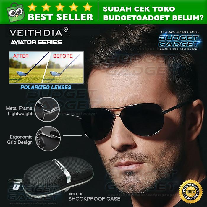 Jual Veithdia Kacamata Aviator Polarized Sunglasses Produk Import ... aba136311b