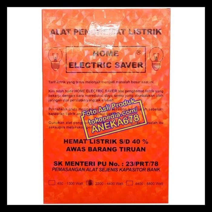 ALAT PENGHEMAT LISTRIK HOME ELECTRIC SAVER ORIGINAL 2200 - 4400 WATT