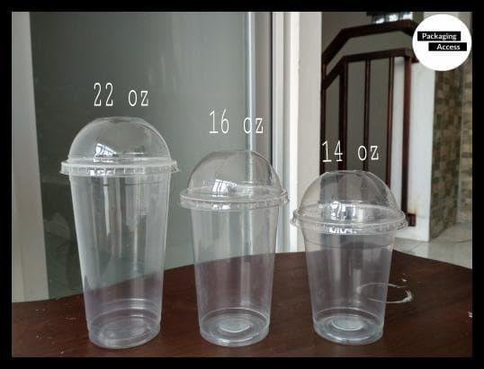 HOT SALE DOME LID CUP PP Tutup Cembung Gelas Plastik uk 12 14 16 22 oz