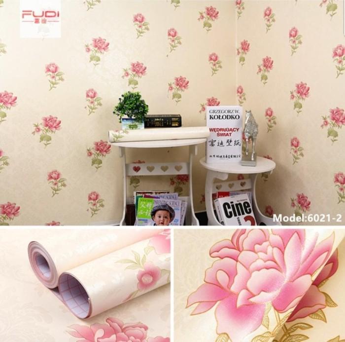Jual murah HW30 Wallpaper Dinding Sticker Tempel 45cm x 10m MOTIF RED ROSE - Kab. Tangerang - toko parida | Tokopedia