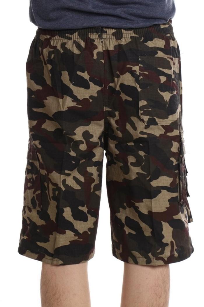 Valatex - Celana pendek cargo Leopard - nyaman dipakai - 4 warna