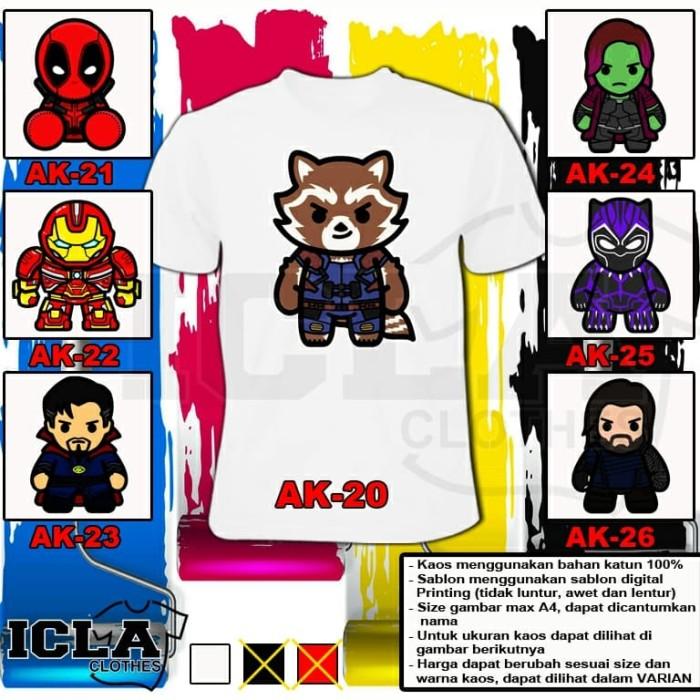 Kaos Avengers Lucu Anak Dan Dewasa Putih