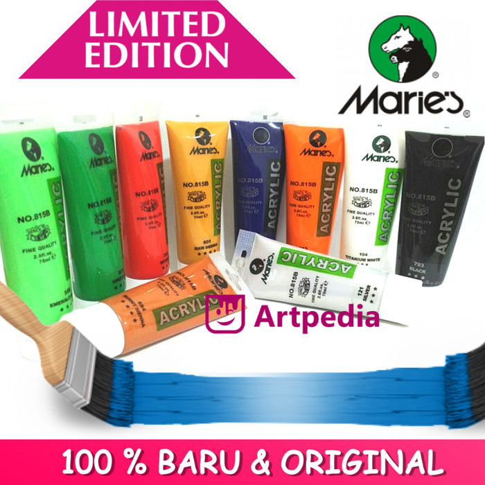 Jual Maries Acrylic Colour 75ml Cat Acrylic Maries Cat Akrilik Maries Kota Bandung Artpedia Shop Tokopedia