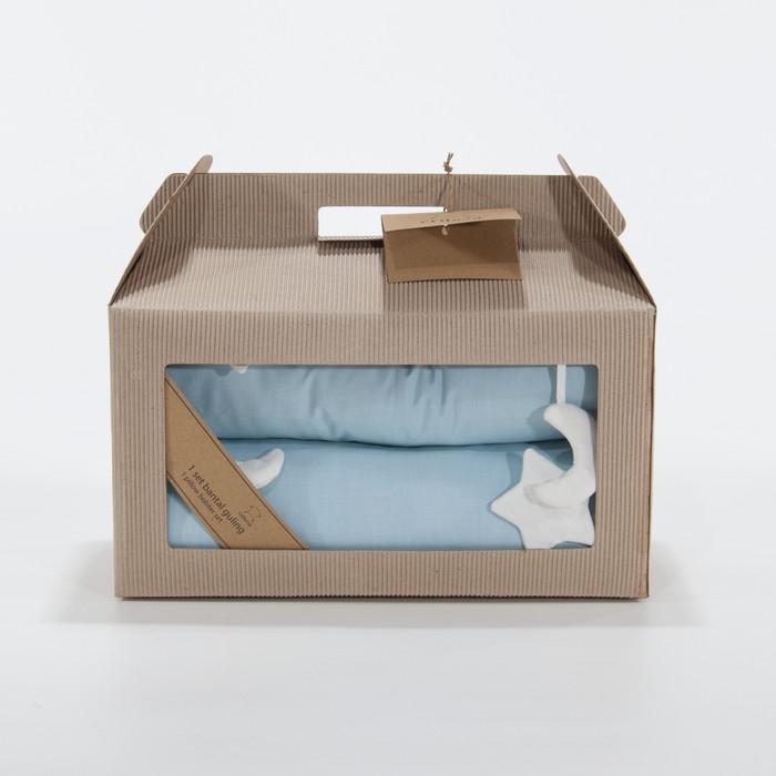 harga Cribcot pillow bolster set (bantal+guling bayi set) - atc 2 blue Tokopedia.com