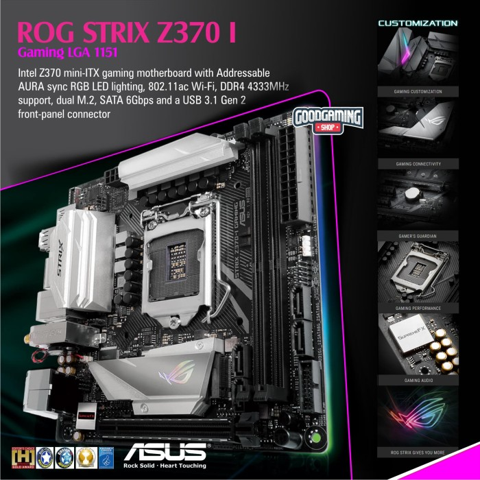 Jual Asus ROG STRIX Z370 I GAMING - Motherboard - Jakarta Pusat -  GOODGAMINGM2M | Tokopedia