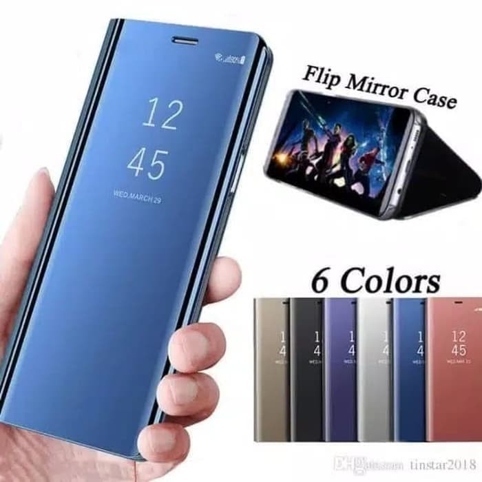 pretty nice 343b7 04612 Jual Samsung A5 2017 Clear view standing cover mirror case - Gold - Violet  gadget   Tokopedia