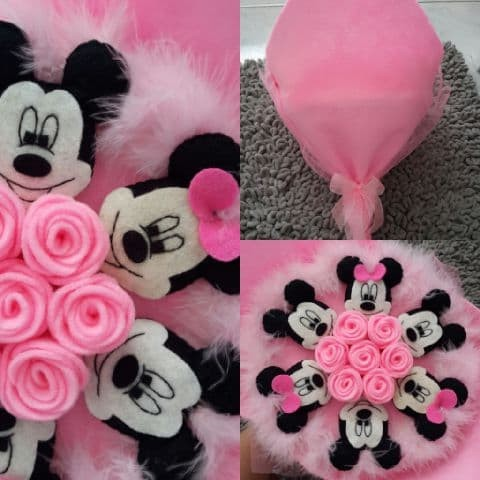 harga Buket mickey minnie mouse bunga pink Tokopedia.com