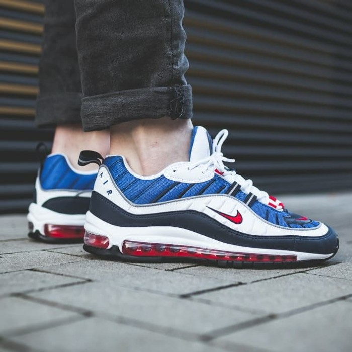 6e21a506e9 Jual Sepatu Nike Air Max 98 OG white red blue Men Premium Original ...