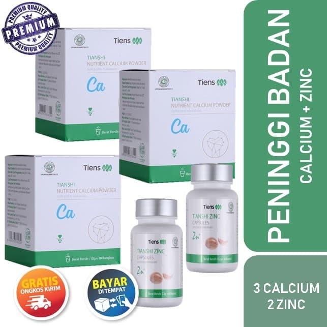 Tiens Susu Peninggi Badan Tercepat Paket 3 Box Kalsium 2 Zinc / Promo