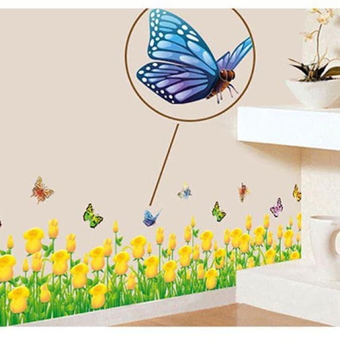 ... wall sticker wall stiker transparan 50x70 AY7025 YELLOW TULIP