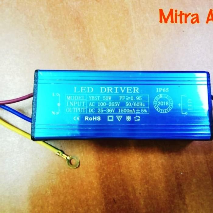 LED Driver AS 50 Watt 1500 mA AC-DC Casing Besi WATERPROOF