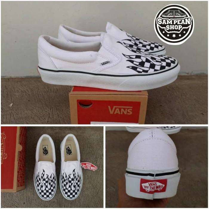 Sepatu Vans Slip On Pro Thrasher Checkerboard Catur Black White