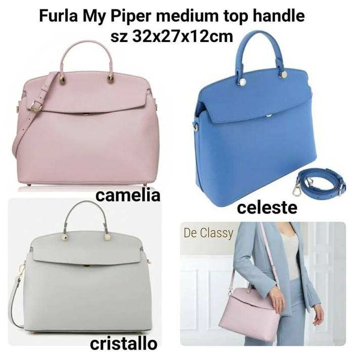6218e875c63 Tas Furla My Piper medium top handle camelia/ celeste / cristallo