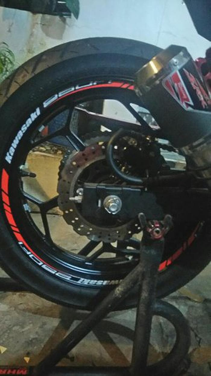 Stiker velg striping wheels kawasaki ninja 250 fi all motorsport