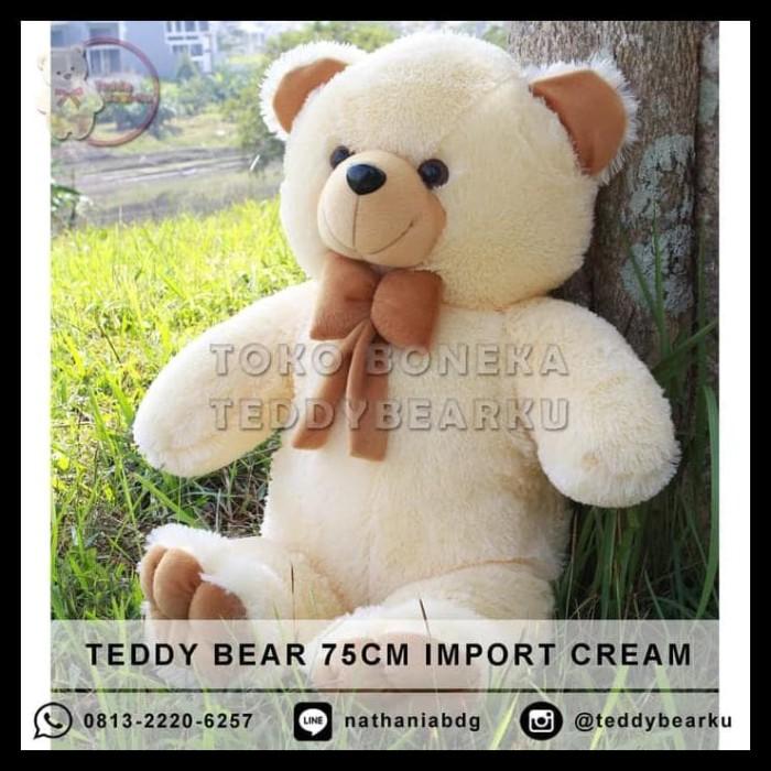Jual HOT SALE Boneka Teddy Bear Cream XL 75CM Model Teddy Bear ... b9b8e113f6