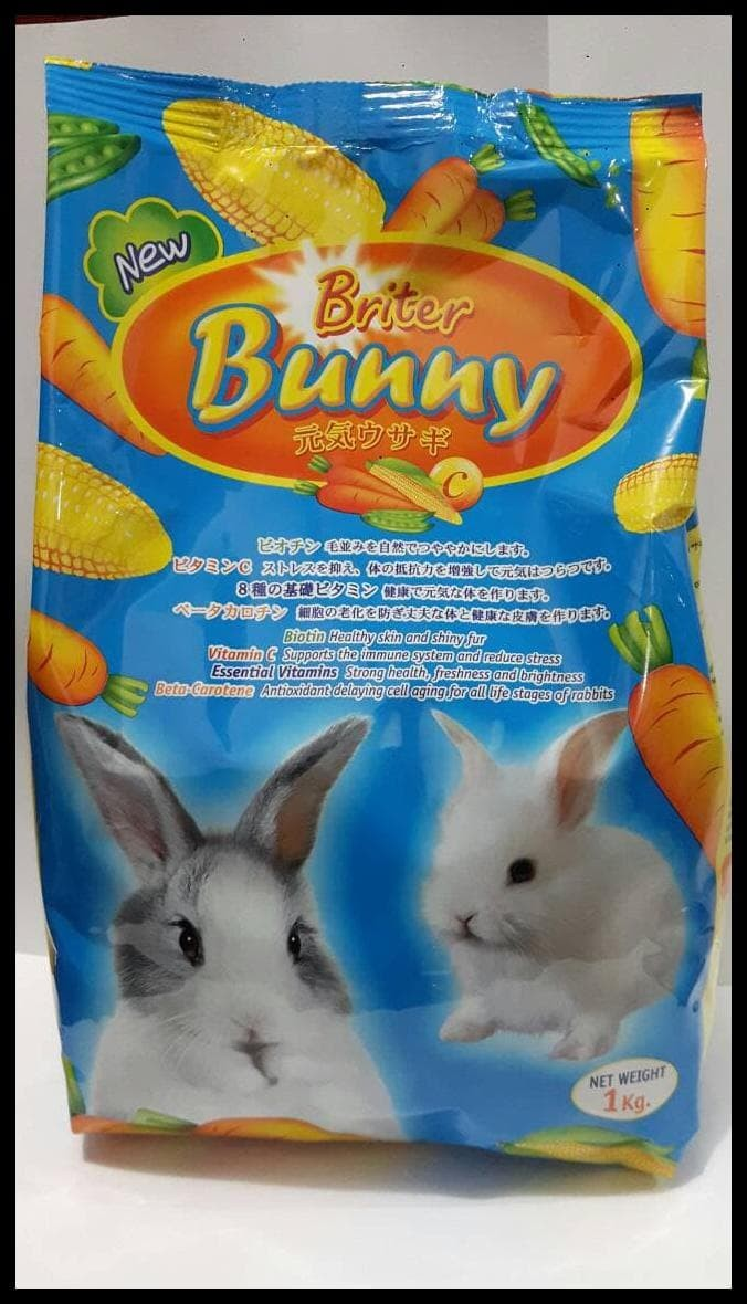 HOT SALE MAKANAN KELINCI / RABBIT FOOD NEW BRITER BUNNY 1KG terjamin