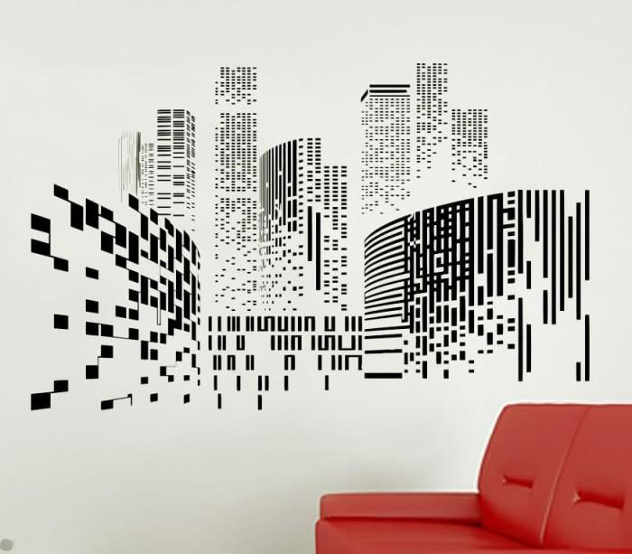 jual wall sticker city silhouette - kota malang - wallyou shop