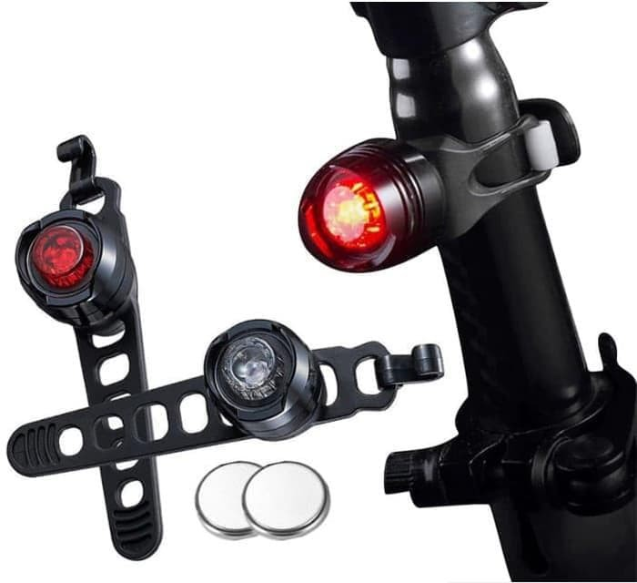 Special Oem Bicycle Tail Safety Light Seatpost Merah Hitam Komplit