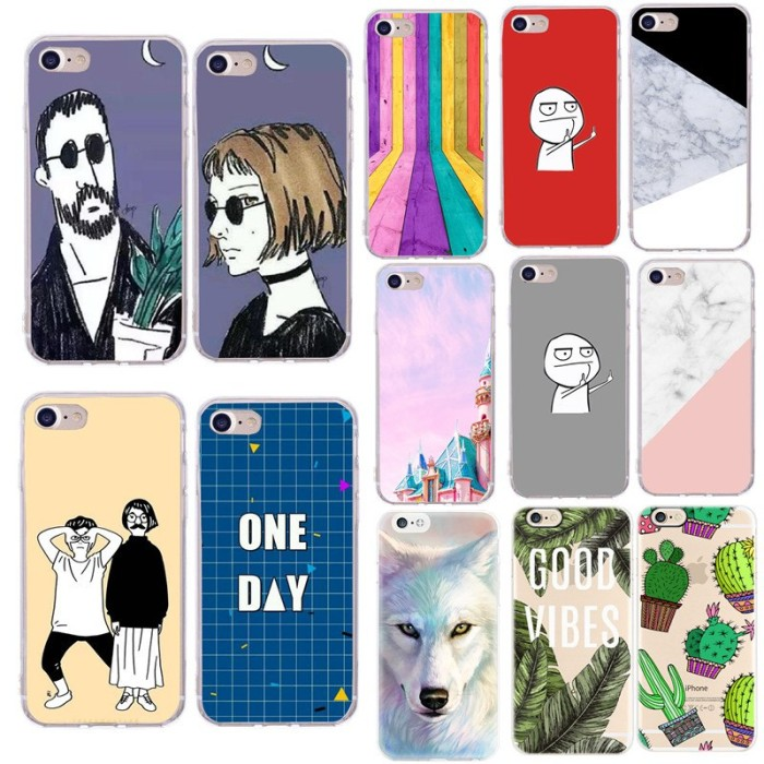 Jual Ponsel Case Untuk Funda Iphone 6 6 S Lucu Kartun Surat Beberapa Dki Jakarta Dudek Official Store Tokopedia