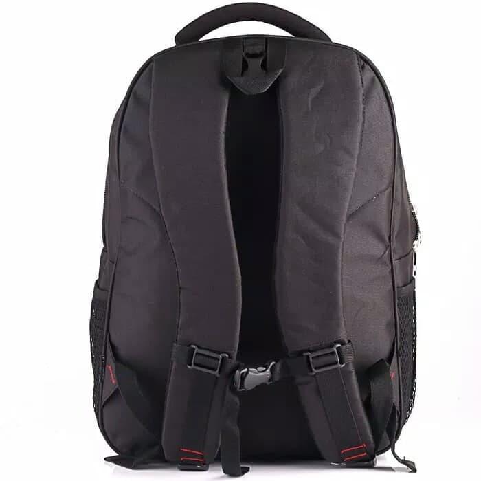 Tas Laptop Backpack Pria Hitam   Coklat Inficlo SMM 912 Free Raincover - 360fd34402
