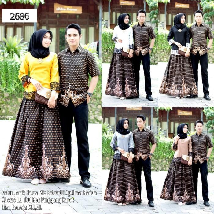 harga Lb 2586 setelan rok blus couple batik sarimbit Tokopedia.com