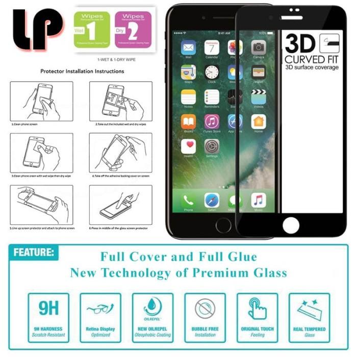 harga Lp full glue 3d tempered glass iphone 7 - 8 Tokopedia.com
