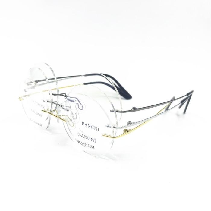 Jual Cubojue Titanium Optical Prescription Glasses Men Women Rimless Round Kab. Kuningan WielShoes Jakarta | Tokopedia