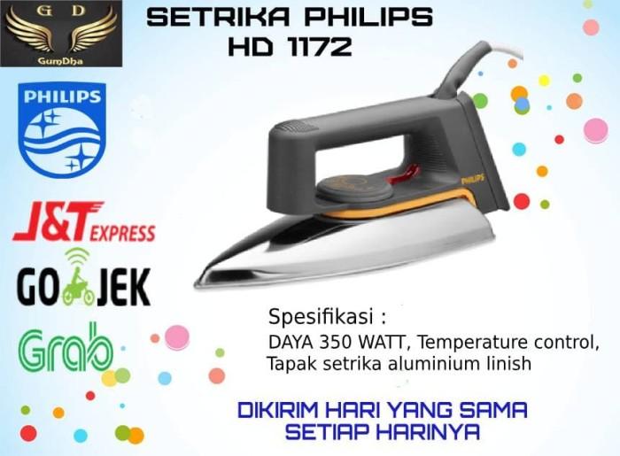 PHILIPS Setrika HD1172 - Hitam