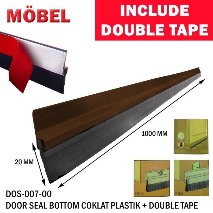 Foto Produk Door Bottom Seal / Lis Penutup Celah Bawah Pintu Model Karet WL51 +LEM dari Serpong Sejahtera