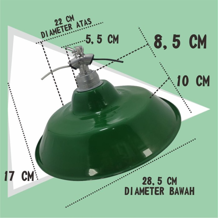 WEITECH KAP LAMPU GANTUNG+FITTING E27 6 pcs
