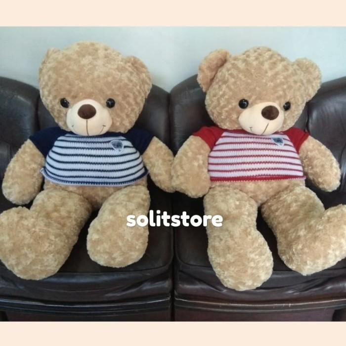 Jual Boneka Teddy Bear Sweater Stripe Teddy House Jumbo Big Giant ... 9c2c8d5939