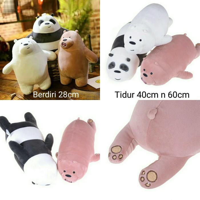 Foto Produk boneka we bare bears miniso panda bear polar mainan grizzy import - Berdiri dari cutePeppa