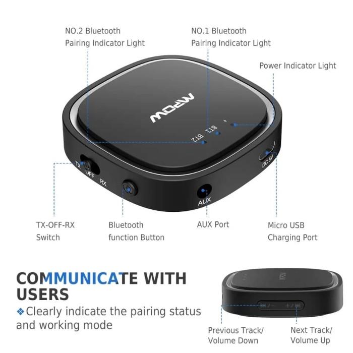 Jual Mpow Bluetooth 5 0 Audio Receiver Transmitter 2 in 1 APTX HD APTX LL -  Jakarta Utara - barangmurah | Tokopedia