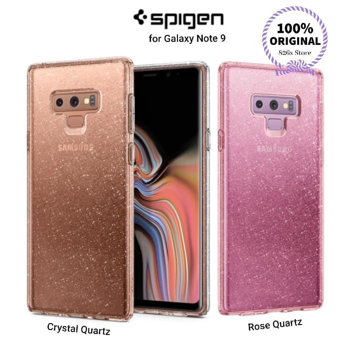 quality design a326c 65f82 Jual SPIGEN Liquid Crystal Glitter SAMSUNG GALAXY NOTE 9 Case ORIGINAL -  Rose Quartz - DKI Jakarta - 826x Store | Tokopedia