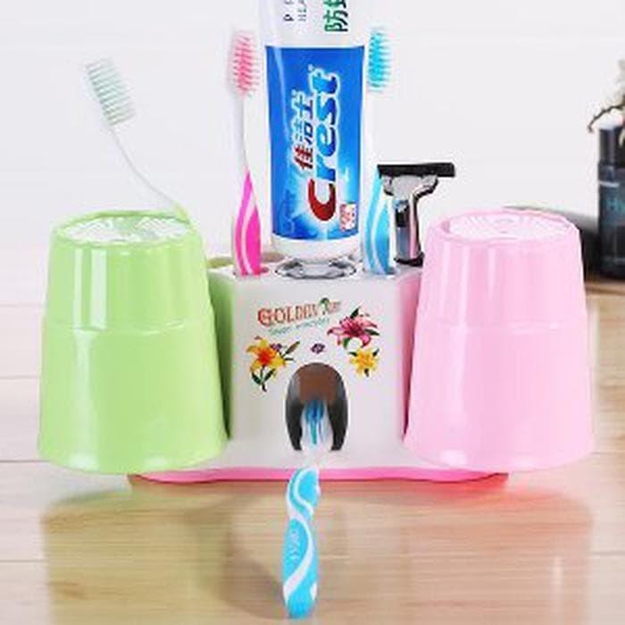 TERLARIS Dispenser Odol tempat sikat gigi di kamar mandi moder LIMITED