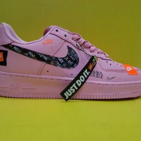 "Jual Nike Air Force 1 Low Just Do It ""Pack"" Pink Original BNIB Jakarta Selatan Afshen Shoes | Tokopedia"