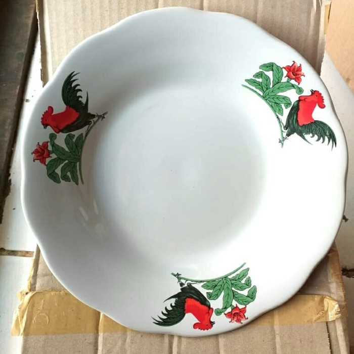 "Foto Produk piring makan keramik / piring keramik ayam merk lucky uk 8"" dari mainan tampo"