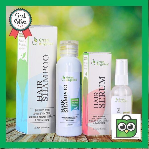 Jual Green Angelica Mengatasi Rambut Rontok Ketombe Lepek Hair Serum ... af2e21b424