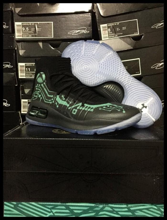 3bd740d7c47c Jual Boom Sale Sepatu Basket Under Armour Curry 4 Xbox Black Green ...