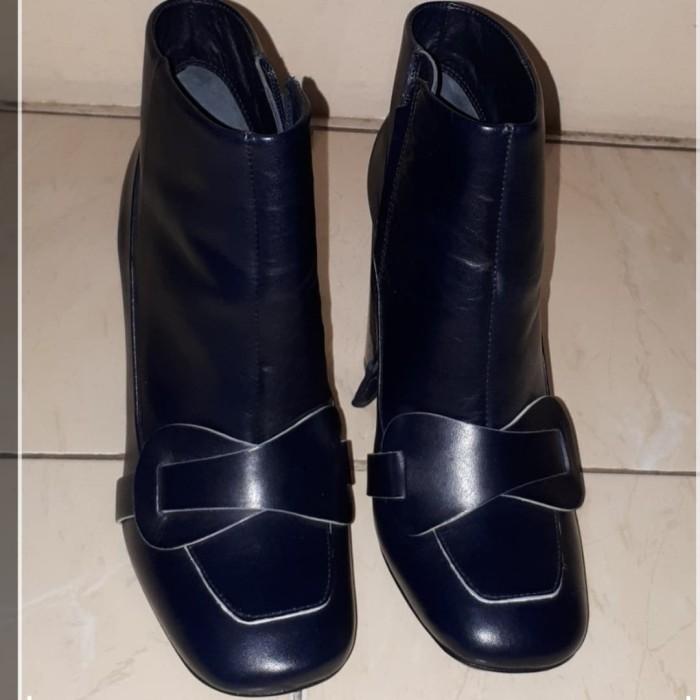 2c57a6c34 Jual Preloved TB Tory Burch Navy Bond Ankle Boots - DKI Jakarta ...