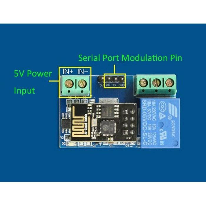 Jual AJ04 ESP8266 5V Wifi Relay Module DIY IoT Remote Control Smart Home -  DKI Jakarta - Semribit Store   Tokopedia