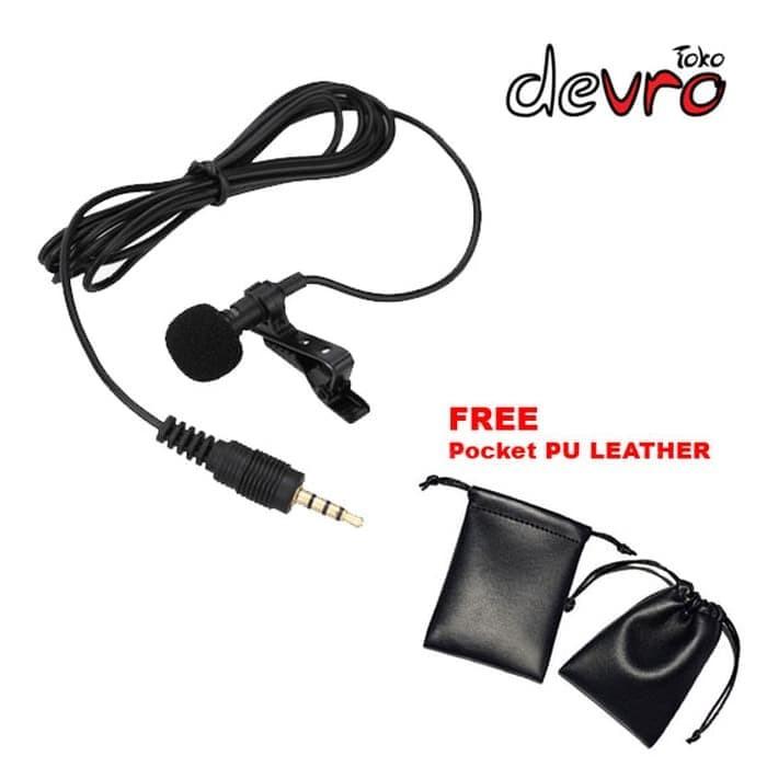 Foto Produk Mikrofon Microphone Clip - Deluxe 3.5mm (Hp/Laptop/Tablet PC) + Pocket dari aksesorishopcom