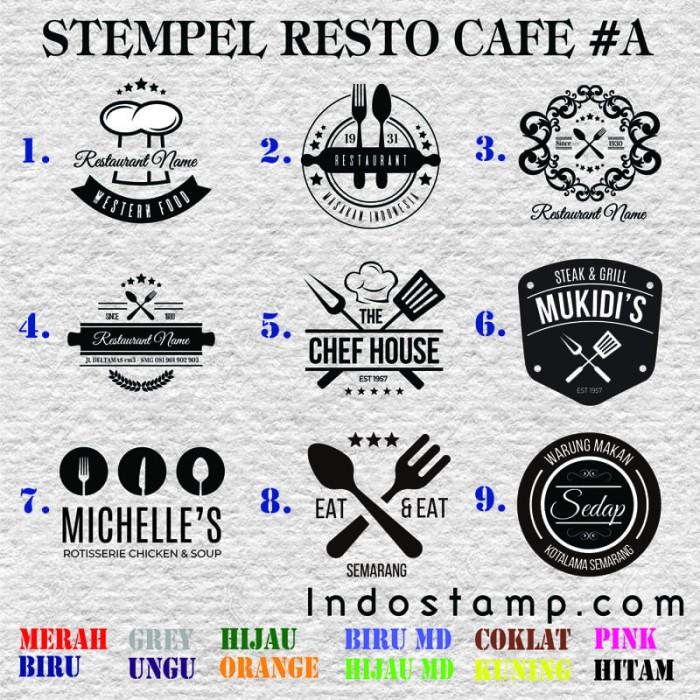 Jual Stempel Logo Cafe Resto Bisnis Makanan Kuliner Gofood Grabfood Stamp Kota Semarang Indostamp Tokopedia