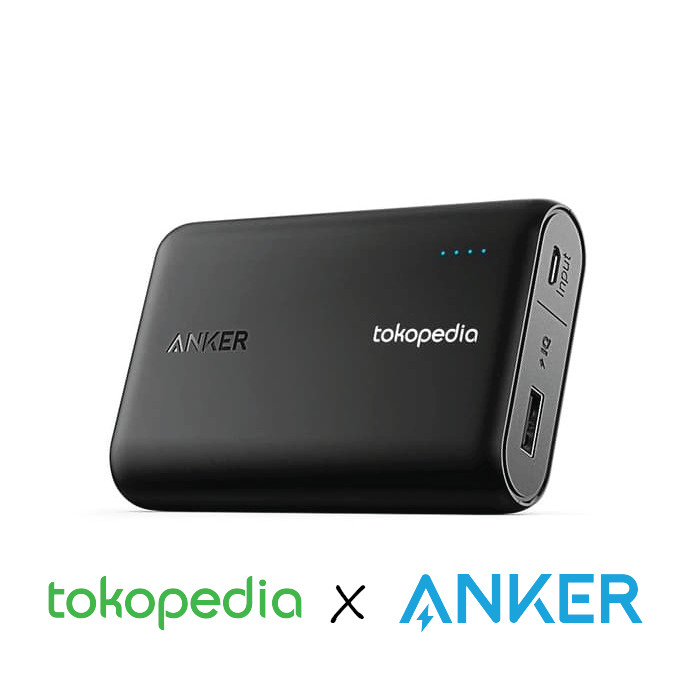 harga [tokopedia x anker] power bank anker 10000 mah - quick charge 3.0 Tokopedia.com