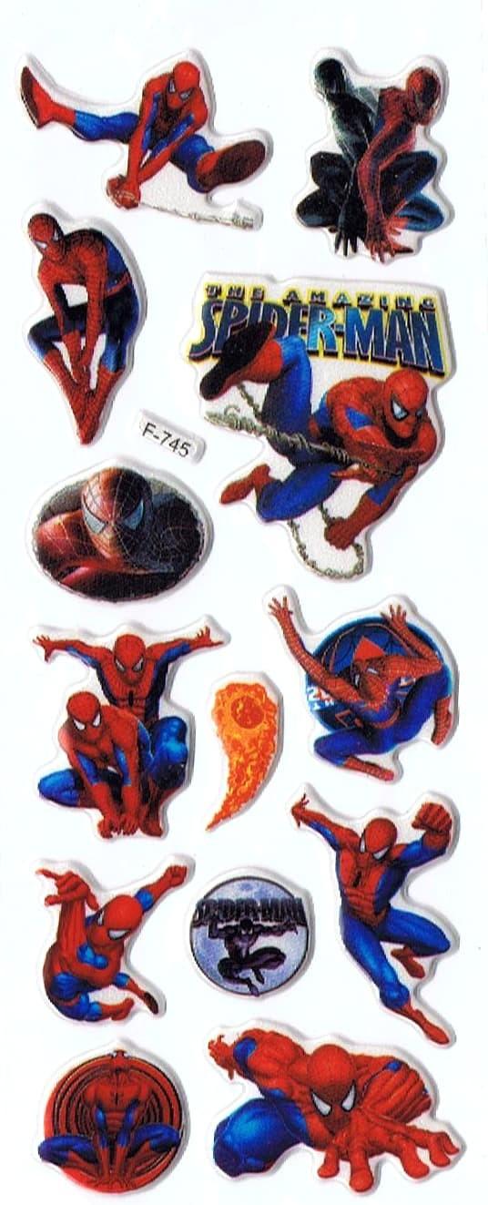 Jual SK416 Stiker Sticker Timbul Set Strip Aneka Gambar Kartun Spiderman Kab Sidoarjo Pusat Mainan Edukasi