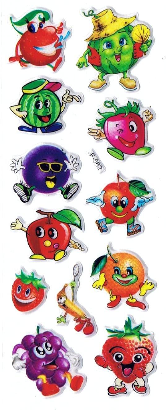 Jual SK501 Stiker Sticker Timbul Set Strip Aneka Gambar Kartun Buah Fruit Kab Sidoarjo Pusat Mainan Edukasi