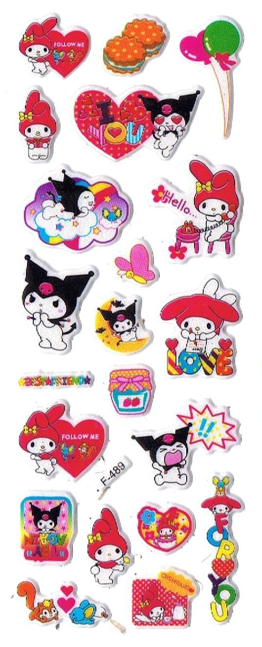 Jual SK363 Stiker Sticker Timbul Set Strip Aneka Gambar Kartun Melody Kab Sidoarjo Pusat Mainan Edukasi